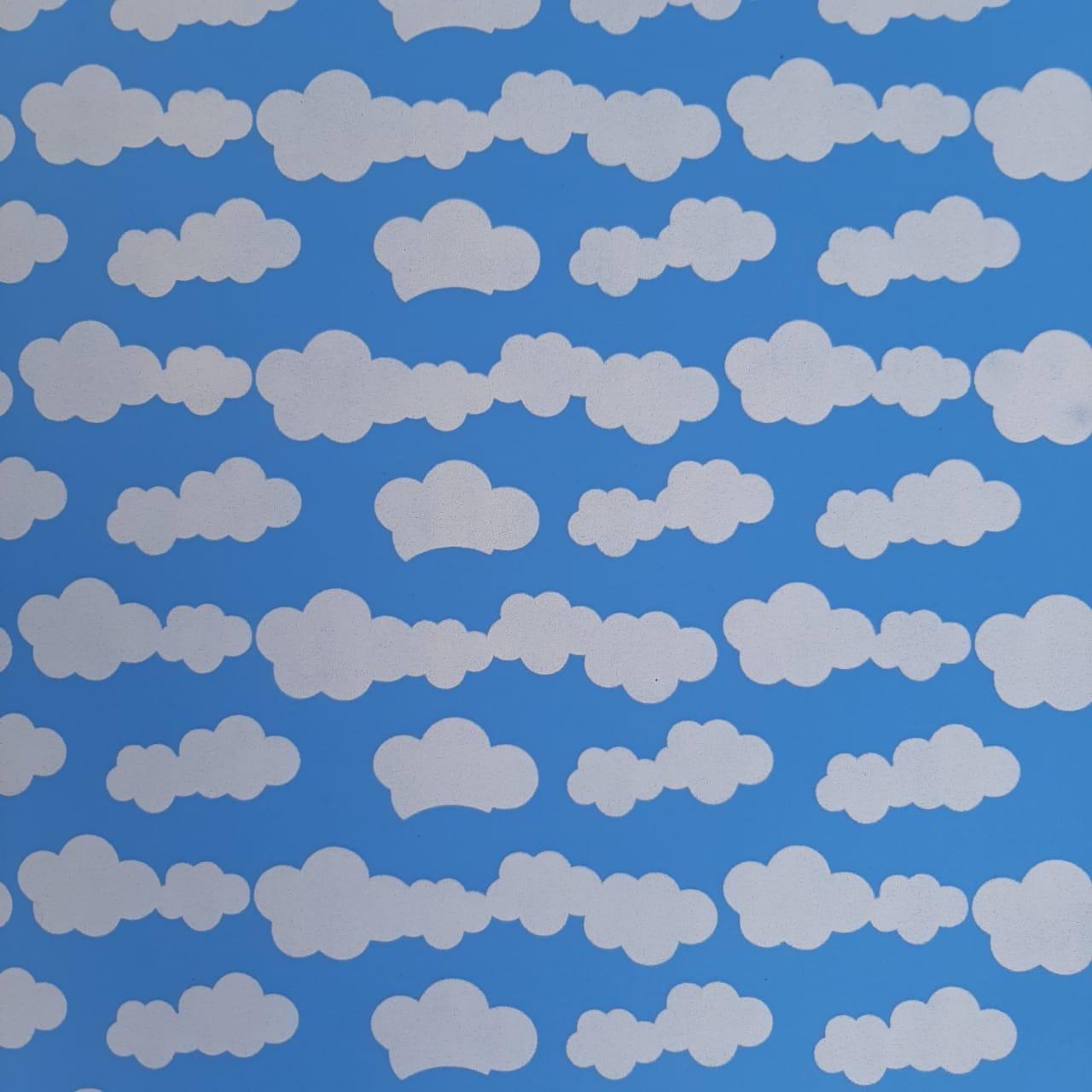 Folha de Eva Estampado Nuvem