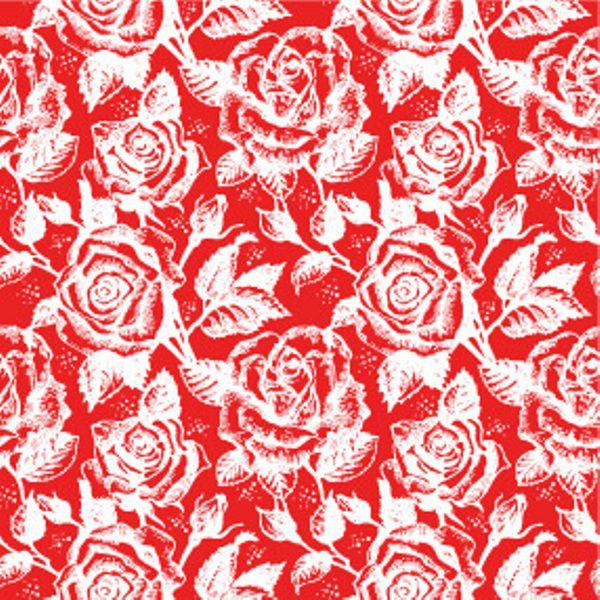 Folha de Eva Estampado Rosas