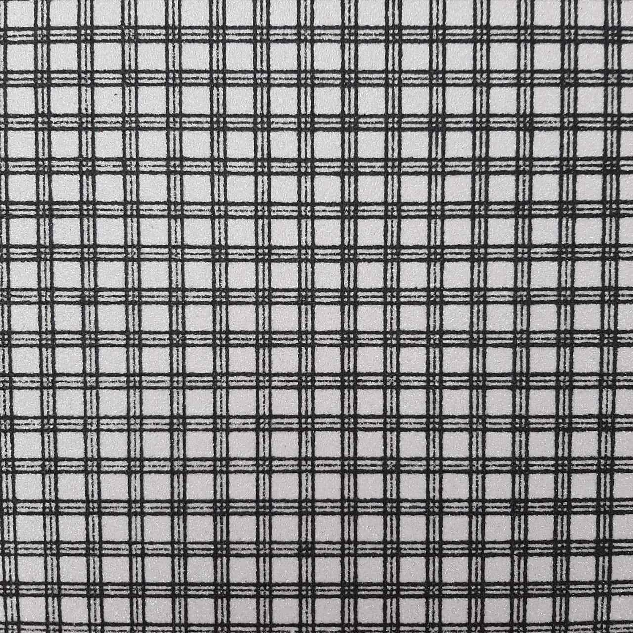 Folha de Eva Glitter Estampado Xadrez