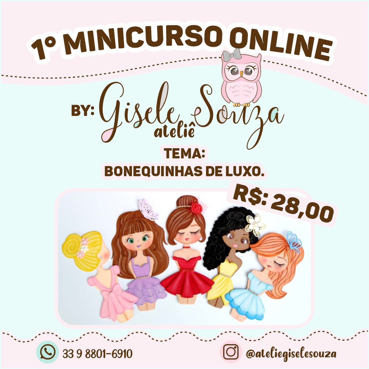 Mini Curso On line Bonequinhas de Luxo