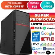 Computador Completo Pc Cpu Intel Core i5 Com Hdmi 8GB SSD 240GB Desktop