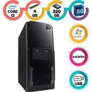 Computador Desktop Intel Core I3 3.1Ghz 4GB HD 320GB Hdmi Windows 7