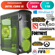 Computador Gamer Intel Core i5 8GB HD 1TB Placa de Vídeo Radeon RX 470 4GB Windows 10 Desktop Pc Cpu