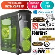 Computador Gamer Intel Core i5 8GB HD 1TB Radeon RX 470 4GB Windows 10 Desktop Pc Cpu