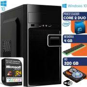 Computador Intel Core 2 Duo 3.0GHz 4GB HD 320GB Windows 10 Wifi Desktop Pc