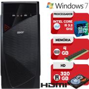 Computador Intel Core i5 4GB HD 320GB Hdmi Windows 7 Wifi Pc