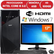 "Computador Intel Core i5 6GB HD 500GB 17"" Teclado Mouse Win7"