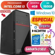 Computador Pc Cpu Intel Core i3 4GB HD 160GB Hdmi Windows 10 Desktop