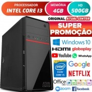 Computador Pc Cpu Intel Core i3 Hdmi 4GB HD 500GB Windows 10 Desktop