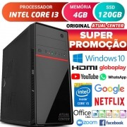 Computador Pc Cpu Intel Core i3 Hdmi 4GB SSD 120GB Windows 10 Desktop