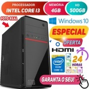 Computador Pc Cpu Intel Core i3 Turbo 4GB HD 500GB Hdmi Windows 10 Desktop