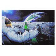 Decoração - Quadro Decorativo 42x28cm Sem Moldura Cerveja Carlsberg Astronauta (Quartos, Cozinhas, Salas, Bares)
