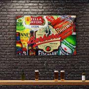 Decoração - Quadro Decorativo 42x28cm Sem Moldura Cervejas (Quartos, Cozinhas, Salas, Bares)