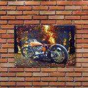 Decoração - Quadro Decorativo 42x28cm Sem Moldura Moto Harley Davidson 57 (Quartos, Cozinhas, Salas, Bares)