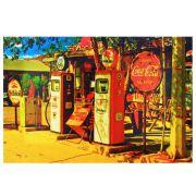 Decoração - Quadro Decorativo 42x28cm Sem Moldura Posto Coca-Cola (Quartos, Cozinhas, Salas, Bares)