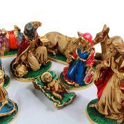 Presépio de Natal Em Gesso 12 Peças 28cm - Enfeites de Natal