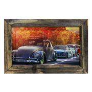 Quadro Decorativo Carros Antigos Retrô Vintage Sala Quarto Moldura 32x48cm