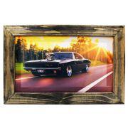 Quadro Decorativo Dodge Charger Sala Quarto Moldura 32x48cm
