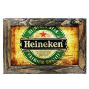 Quadro Decorativo Heineken Quarto Cozinha Moldura 32x48cm