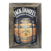 Quadro Decorativo Jack Daniels Quarto Cozinha Bar Moldura 48x32cm