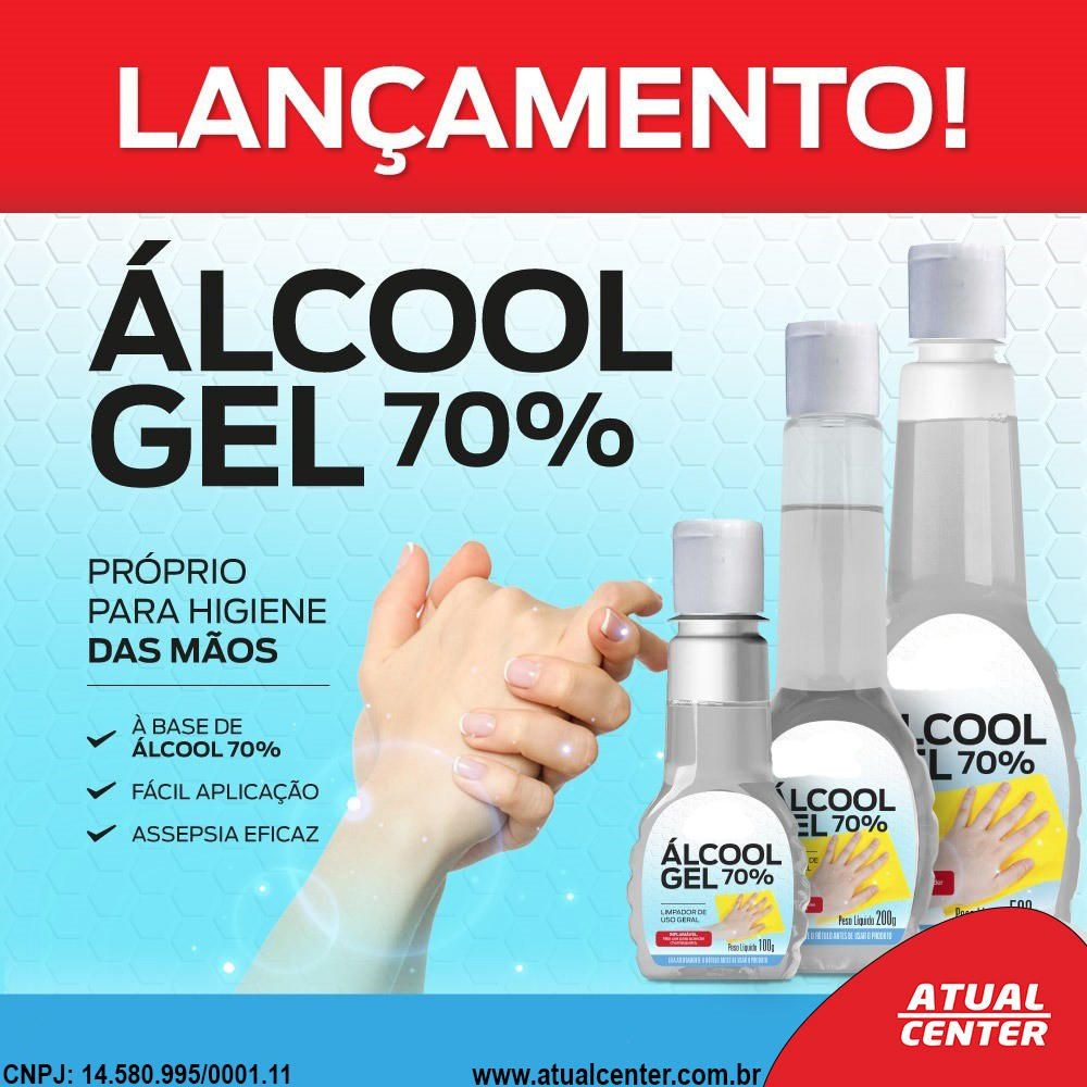 Alcool em Gel 70% Higienizador de Mãos Embalagem 228ml