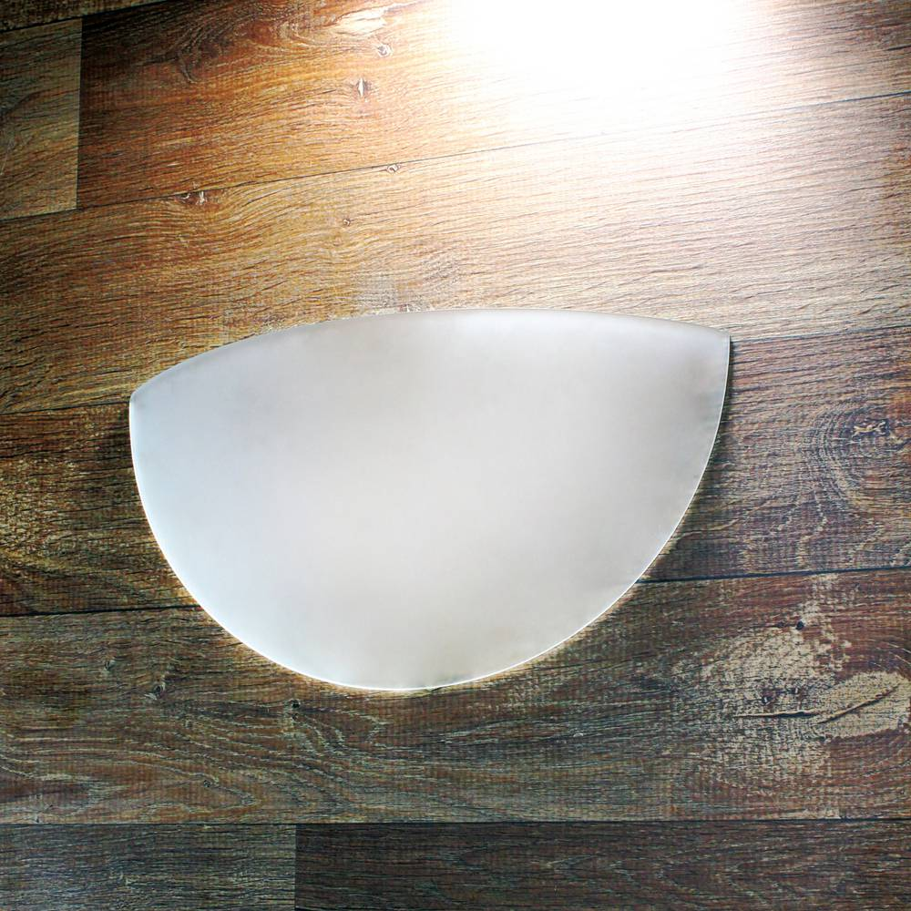 Arandela Parede Luminária Vidro Branca 25cm