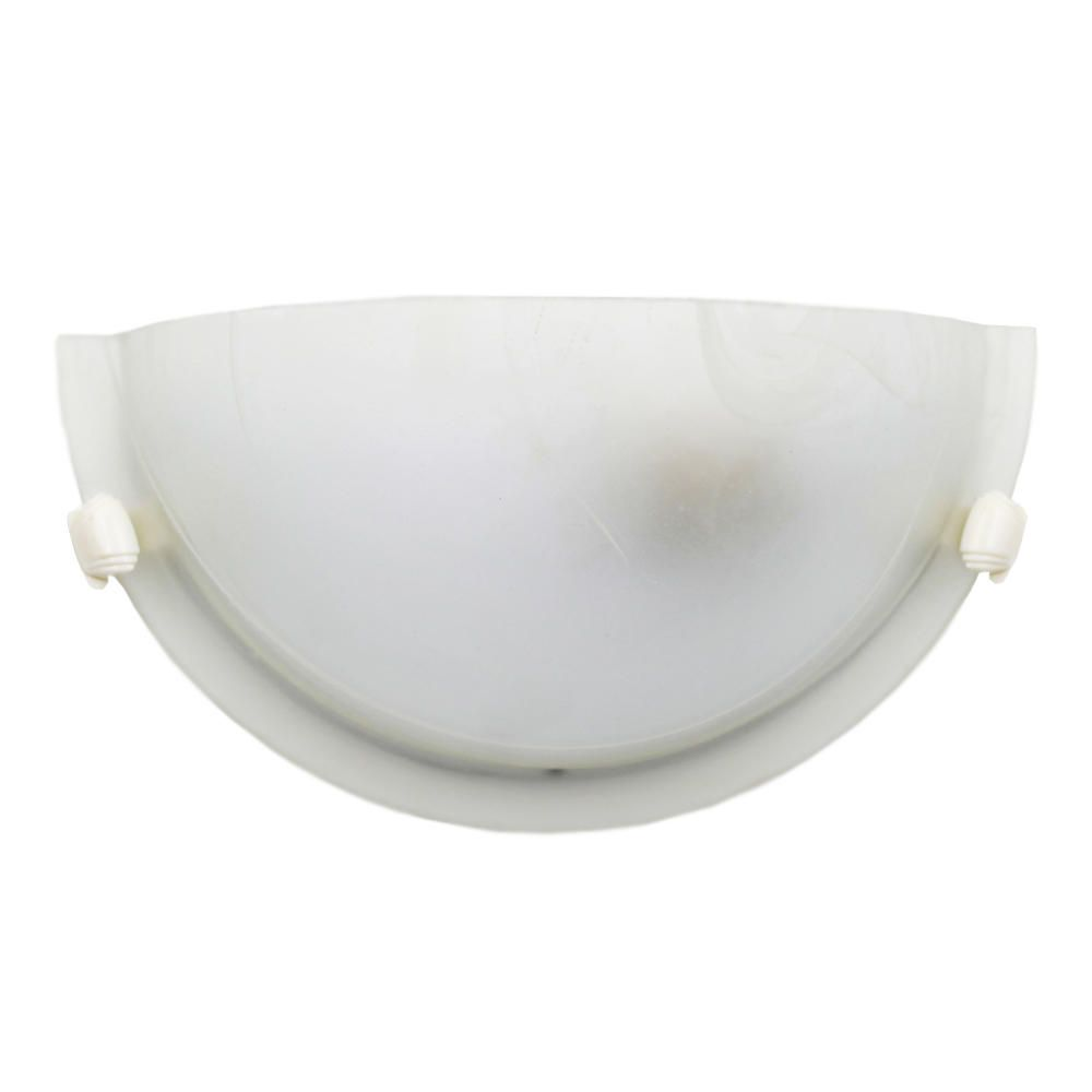 Arandela Parede Luminária Vidro Branca 30cm