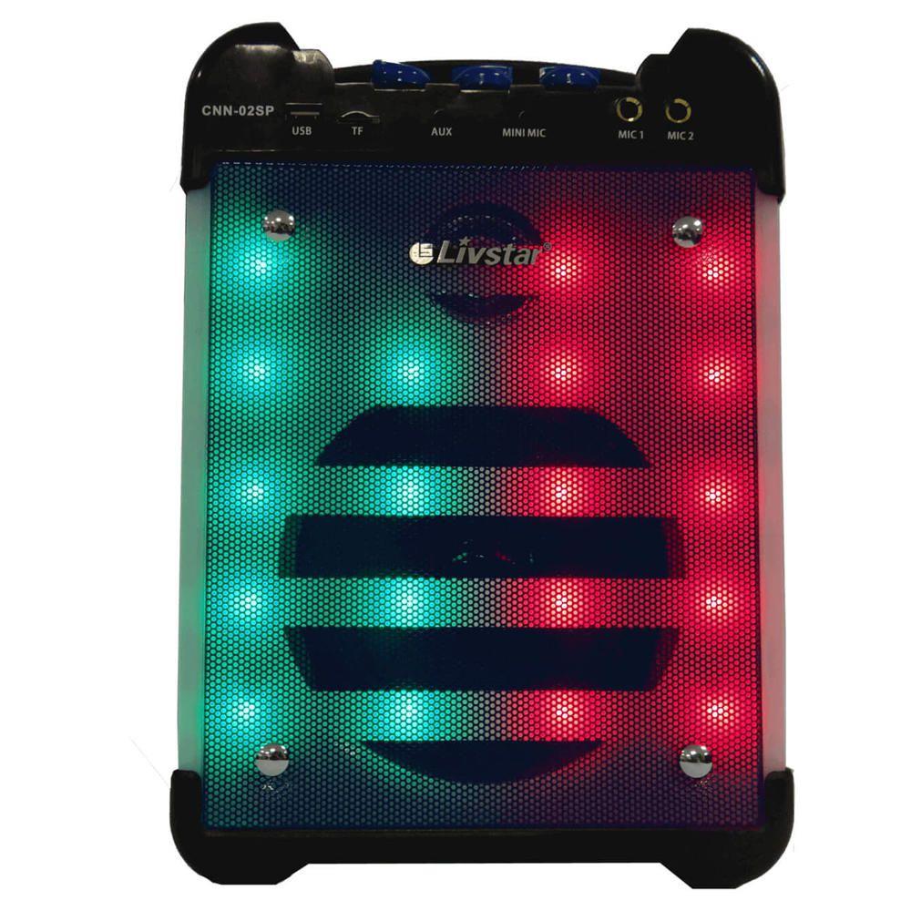 Caixa de Som Bluetooth Amplificada Karaokê Led 30w RMS