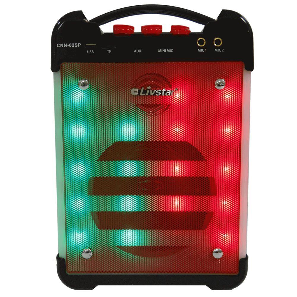 Caixa de Som Bluetooth Amplificada Karaokê Led Usb Micro SD 30w RMS