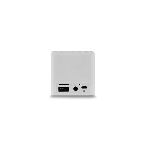 Caixa De Som Cubo Speaker 3W Branco Multilaser