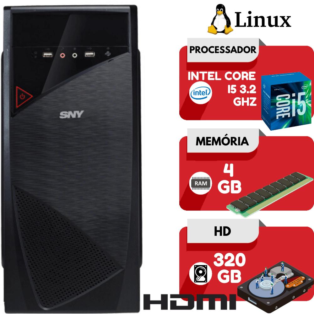 Computador Intel Core i5 3.2Ghz 4GB HD 320GB Hdmi Linux Pc