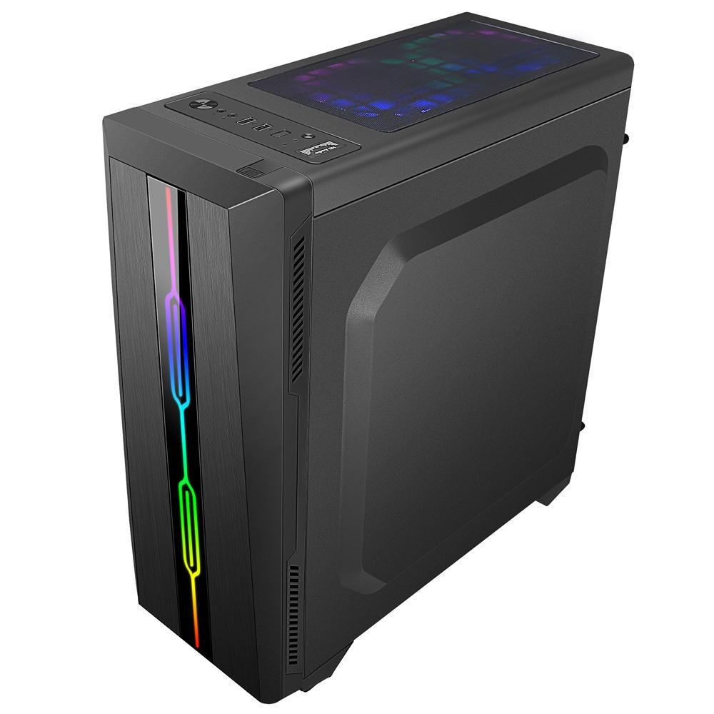 Computador Pc Gamer Intel Core i3 (AMD Radeon RX 550 4GB) 4GB HD 2TB SSD 240GB Windows 10 Desktop Cpu