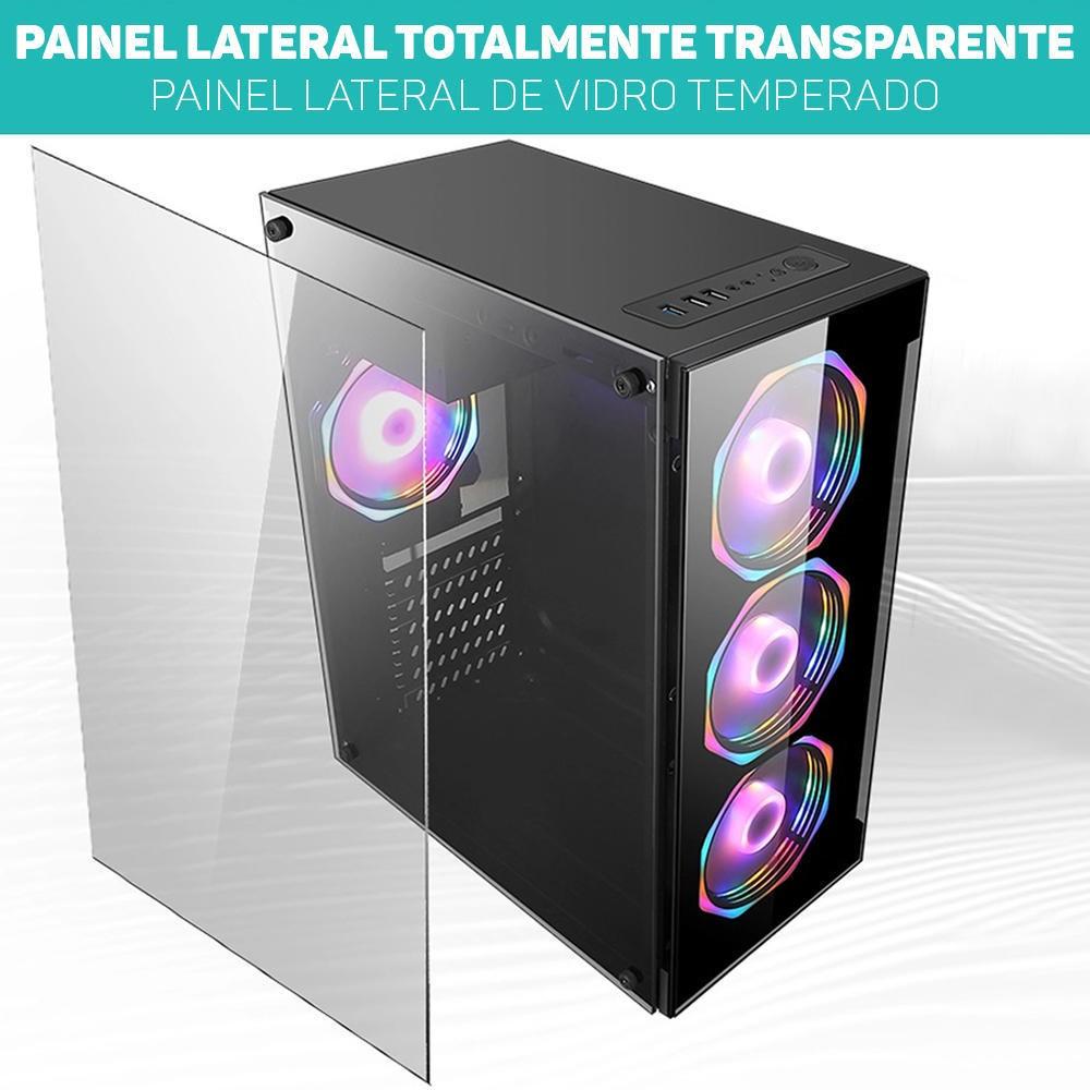 Computador Pc Gamer Intel Core i3 (AMD Radeon RX 550 4GB) 8GB HD 2TB SSD 120GB Windows 10 Desktop Cpu