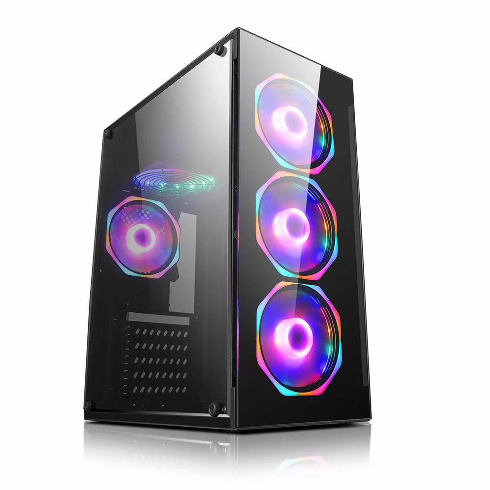 Computador Pc Gamer Intel Core i3 (AMD Radeon RX 550 4GB) 8GB HD 2TB SSD 240GB Windows 10 Desktop Cpu