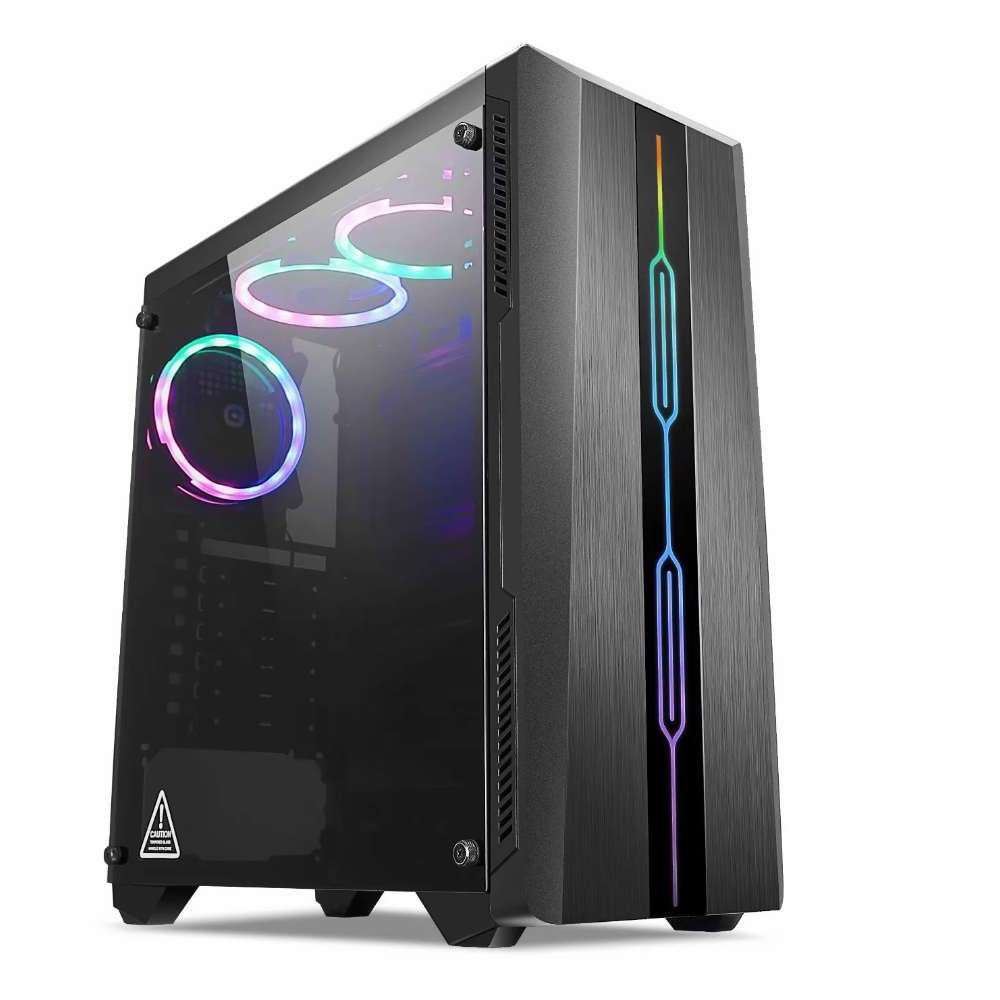 Computador Pc Gamer Intel Core i5 (AMD Radeon RX 550 4GB) 8GB HD 1TB SSD 120GB Windows 10 Desktop Cpu