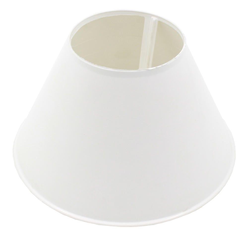 Cupula Plástica para Abajur Injetada 11x17,5cm Branca