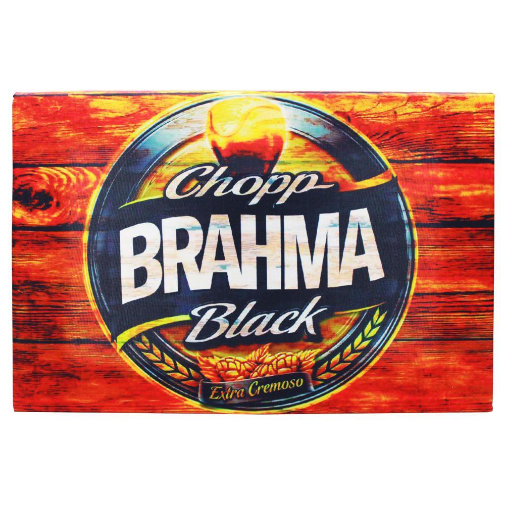 Decoração - Quadro Decorativo 42x28cm Sem Moldura Chopp Brahma Black (Quartos, Cozinhas, Salas, Bares)