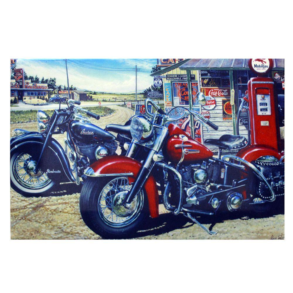 Decoração - Quadro Decorativo 42x28cm Sem Moldura Motos Harley Davidson (Quartos, Cozinhas, Salas, Bares)