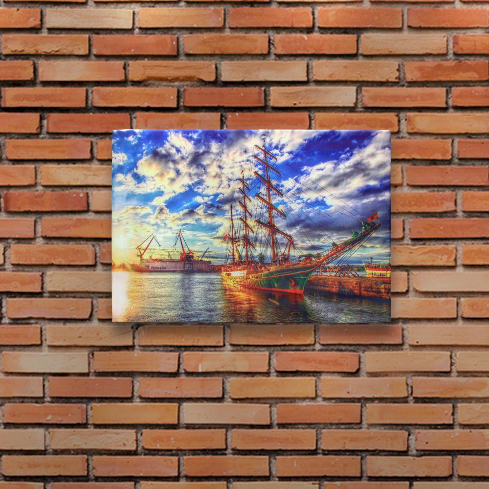 Decoração - Quadro Decorativo 42x28cm Sem Moldura Navios Espanhóis (Quartos, Cozinhas, Salas, Bares)