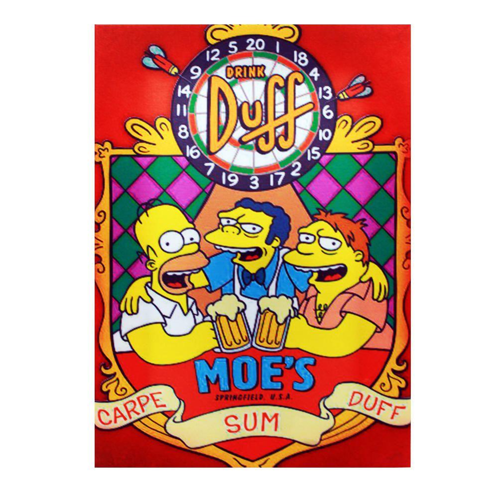 Decoração - Quadro Decorativo 42x28cm Sem Moldura Simpsons Drink Duff (Quartos, Cozinhas, Salas, Bares)
