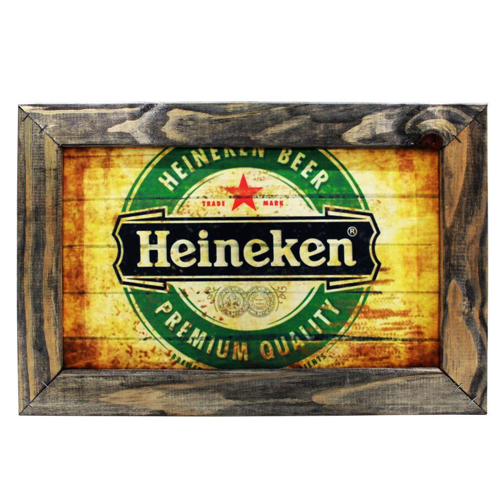 Kit 3 Quadro Decorativo Cerveja Heineken Jack Daniels Coca-cola 48x32 Sala Quarto