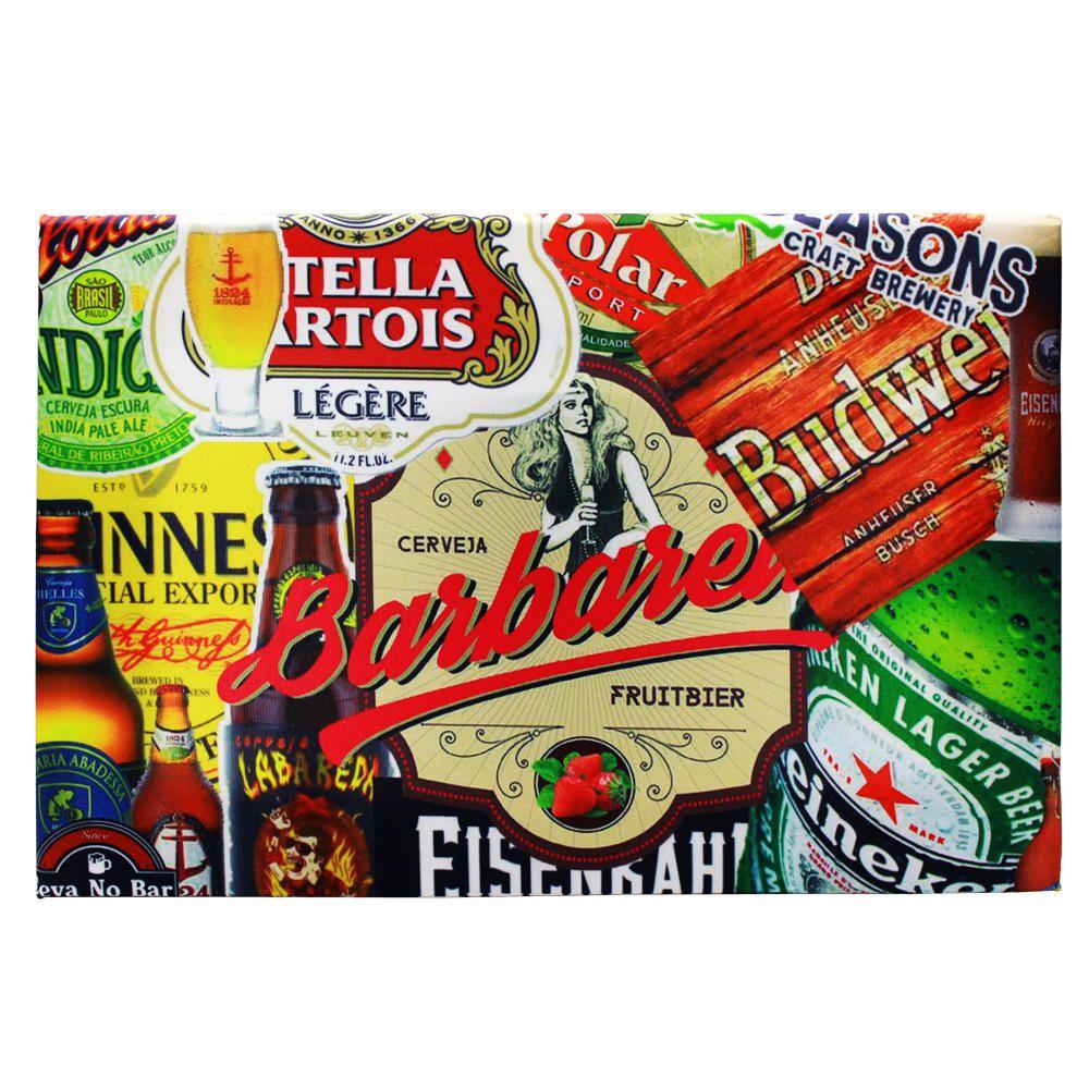 Kit 3 Quadros Decorativos Posto Coca-Cola Frase Bíblica Cervejas 42x28cm Cada