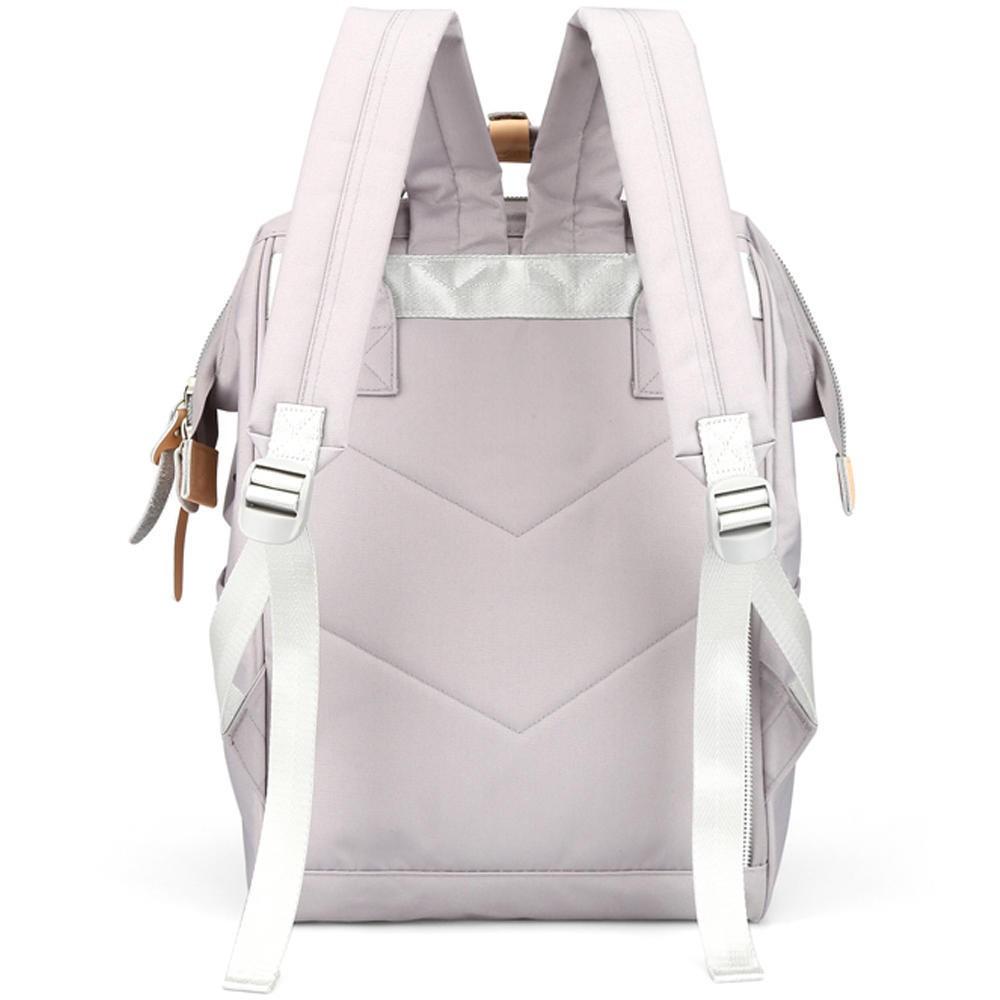 Mochila Feminina Himawari Bolsa Casual Mulheres Moda Cinza Prateado Resistente à Água (Não à Prova D'água) Com Entrada USB