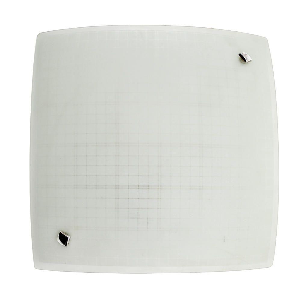 Plafon Lustre Luminária Teto Quarto Cozinha Sala 30cm Vidro