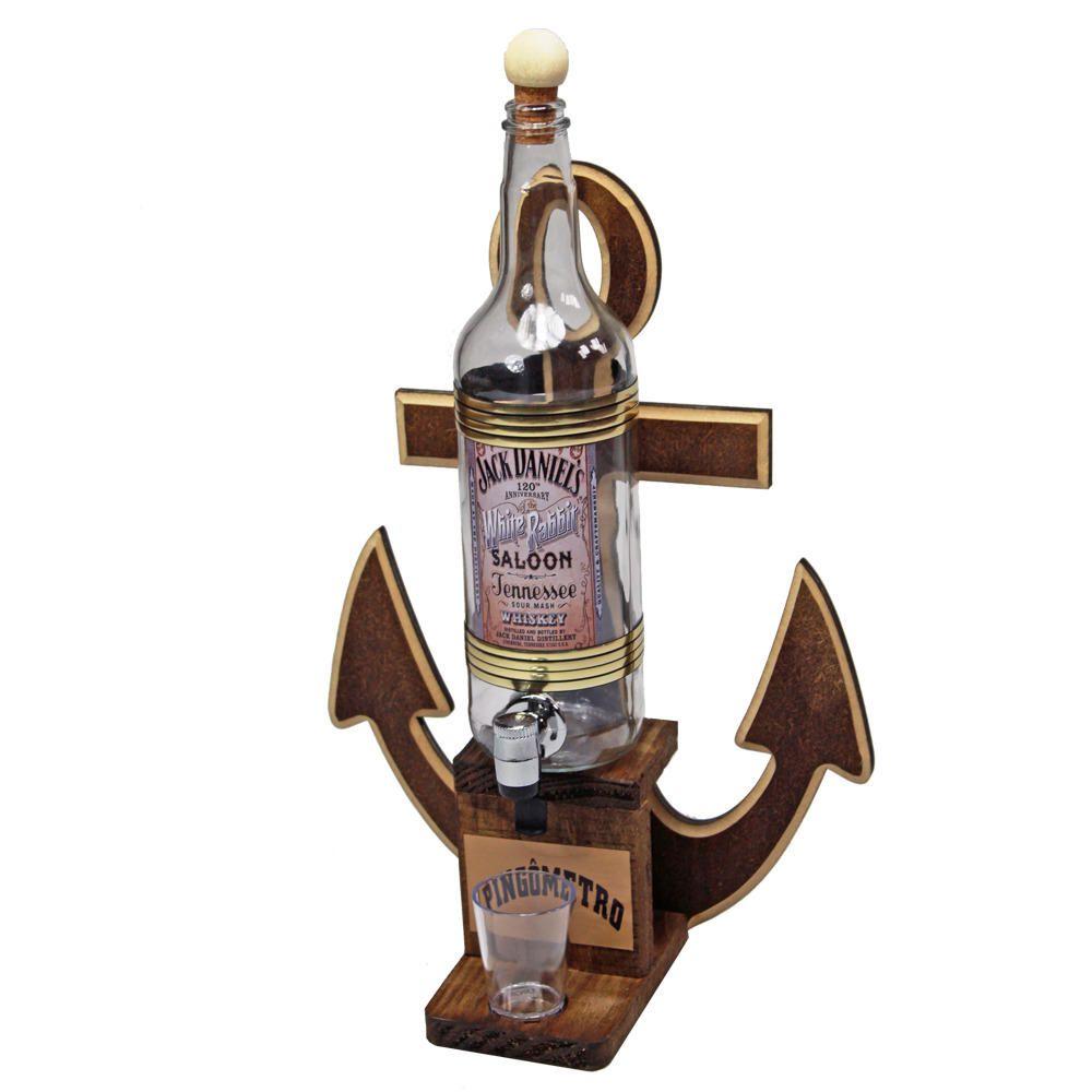 Quadro Decoração - Porta Cachaça Jack Daniels Ancora Pingometro Área Churrasco Adega Bar 45x28 1lt