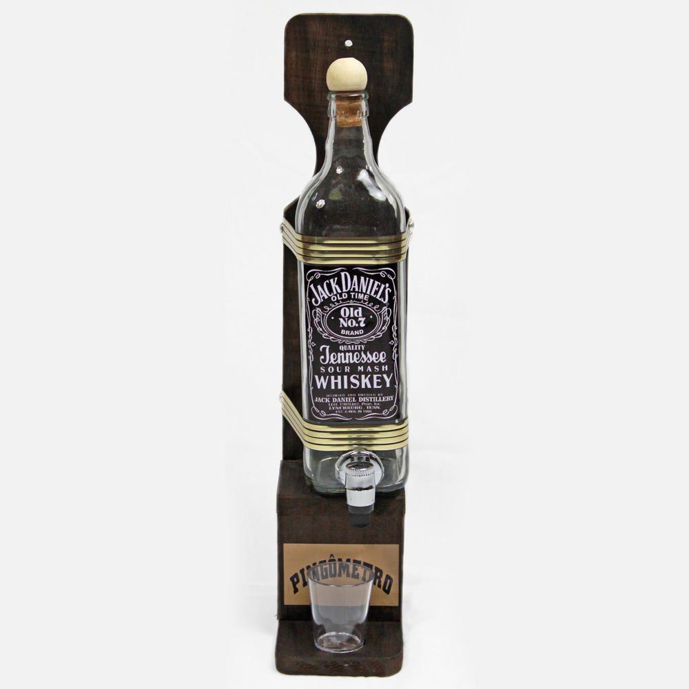Quadro Decoração - Porta Cachaça Jack Daniels Pingometro Área Churrasco Adega Bar Salas 45.5x10 1lt
