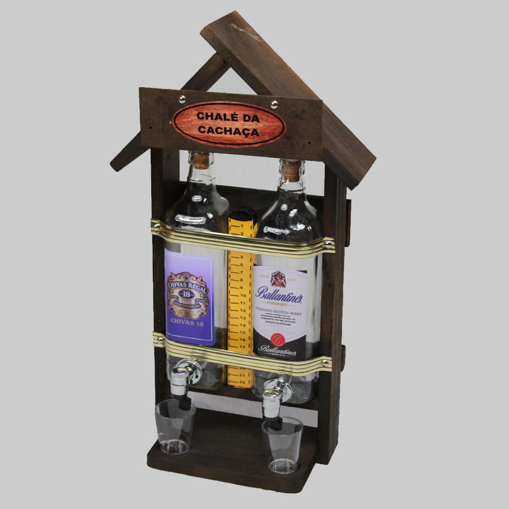 Quadro Decoração - Porta Cachaça Pingometro Chale Área Churrasco Adega Bar Sala 53x23 2l Ballantines