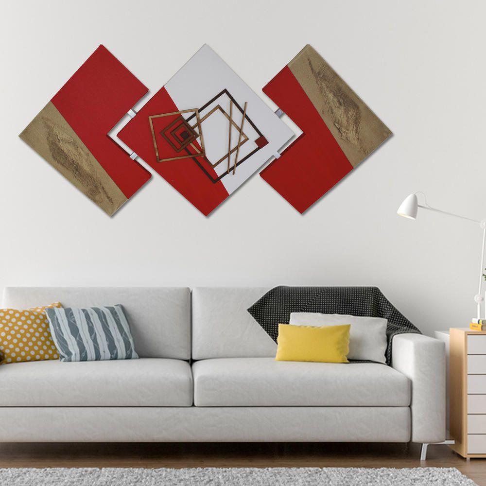 Quadro Decorativo Abstrato Casal Moderno para Sala