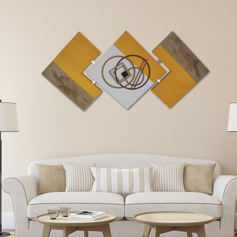 Quadro Decorativo Abstrato para Quarto Sala de Jantar Estar