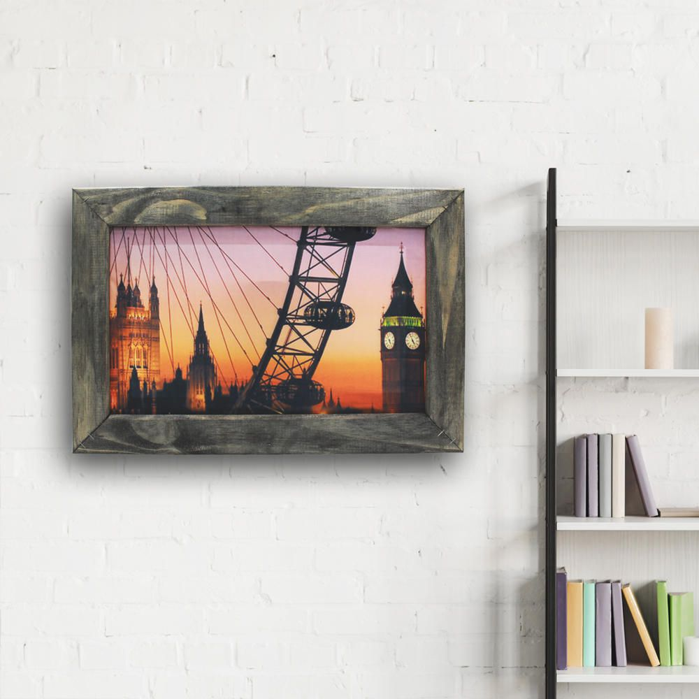 Quadro Decorativo Cidade Londres Sala Quarto Moldura 32x48cm